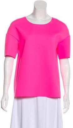 J Brand Raw-Edge Short Sleeve Top w/ Tags