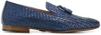 Andrea Ventura weave tassel loafers
