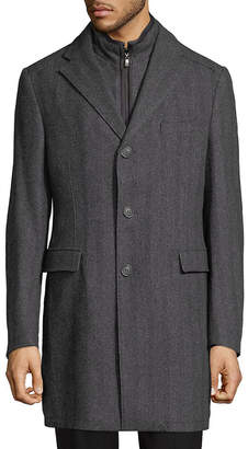 Corneliani Herringbone Notch Coat