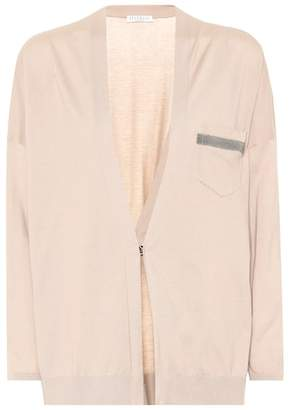 Brunello Cucinelli Embellished cotton cardigan