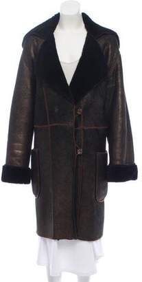Fendi Suede Long Coat
