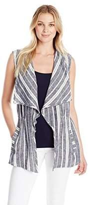 Chaus Women's Striped Linen Vest