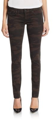 Camo Five-Pocket Skinny Jeans $178 thestylecure.com