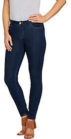 LOGO by Lori Goldstein 5-Pocket Skinny Jeans w/Zipper Detail