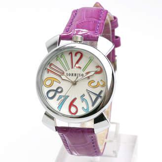 スマイルプロジェクト SMILE PROJECT SORRISO ソリッソ 上部リューズのミッドサイズケースにイタリアンデザイン腕時計 SRF9-SVWN