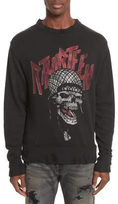 R 13 Battle Punk Graphic Sweatshirt