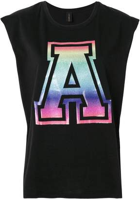 Alexandre Vauthier holographic A print tank top