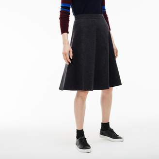 Lacoste Women's Stretch Wool And Cotton Tweed A-line Skirt