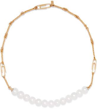 Aurelie Bidermann Cheyne Walk Gold-plated Pearl Necklace