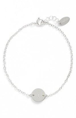 Women's Nashelle Sterling Silver Mini Initial Disc Bracelet $53 thestylecure.com