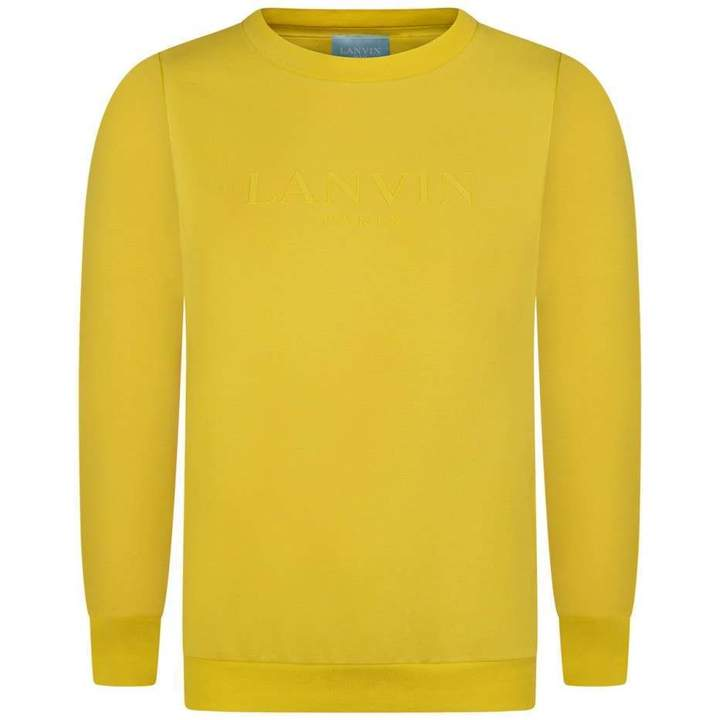 LanvinBoys Yellow Logo Sweater