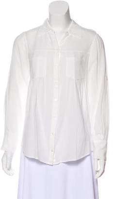 Joie Long Sleeve Pleated Top