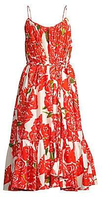 Rhode Resort Women's Lea Floral Midi Flounce Dress