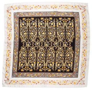 Loewe Scroll Pattern Silk Scarf