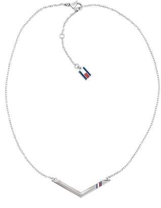 Tommy Hilfiger Silver Chevron Necklace