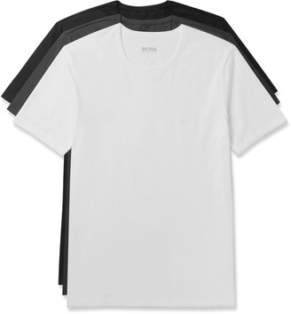 Hugo Boss Three-Pack Cotton-Jersey T-Shirts $45 thestylecure.com