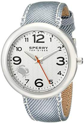 Sperry Women's 10008952 Sandbar Stainless Steel Watch with Striped Canvas Band