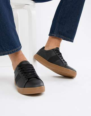 Asos Design DESIGN sneakers in black with gum sole