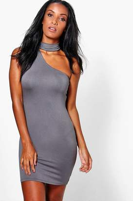 boohoo Micha Choker Detail Bodycon Mini Dress