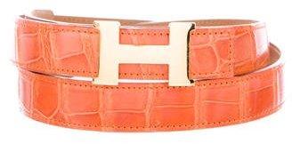 Hermès Crocodile Reversible Constance Belt Kit