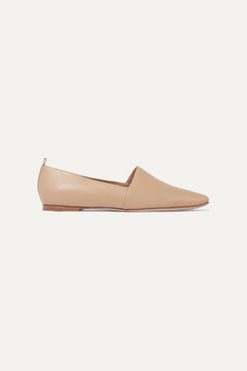 Gianvito Rossi Leather Loafers - Beige