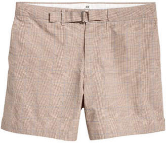 H&M Checked Shorts - Beige