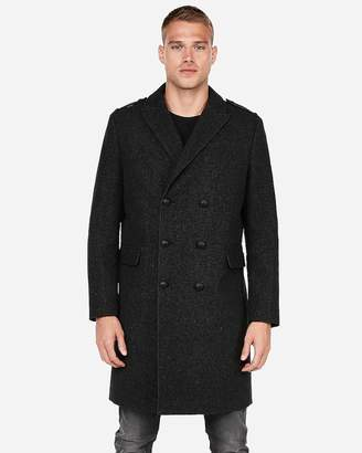 Express Recycled Wool Military Topcoat