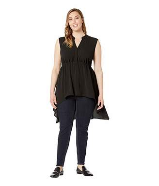 7e74605c2 Vince Camuto Specialty Size Plus Size Sleeveless Split-Neck High-Low Hem  Blouse
