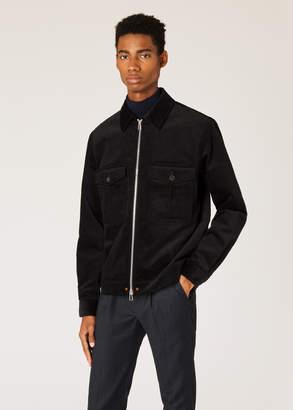 Paul Smith Men's Black Corduroy Stretch-Cotton Patch-Pocket Jacket