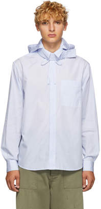 Craig Green Blue Pinstripe Shirt Jacket