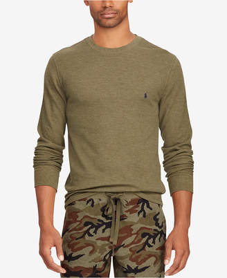 Polo Ralph Lauren Men's Waffle-Knit Crew-Neck Shirt