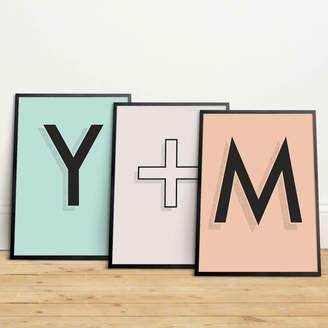 SketchMoreStudio Personalised Letter Print