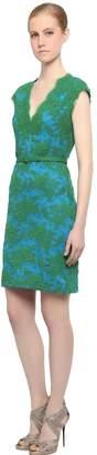 Reem Acra Embellished Cotton & Viscose Lace Dress