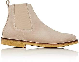 Barneys New York MEN'S CREPE-SOLE CHELSEA BOOTS - BEIGE/TAN SIZE 10.5 M
