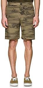 Barena Venezia Men's Venice-Print Cotton Shorts-Green