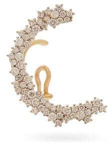 Ana Khouri Marie Diamond & 18kt Gold Ear Cuff - Womens - Gold