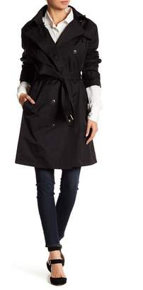 Cole Haan Double Breasted Waist Belt Trench Coat $395 thestylecure.com