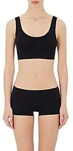 Hanro Women's Touch Feeling Crop Top Sports Bra-Black