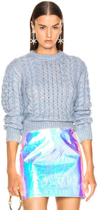 Sies Marjan Britta Cable Knit Sweater in Ice Blue | FWRD