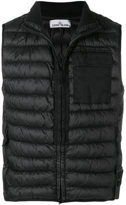 Stone Island zipped gilet jacket