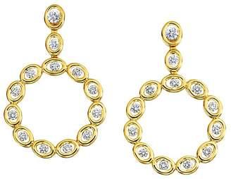 Oasis Gumuchian 18K Yellow Gold Diamond Circle Drop Earrings
