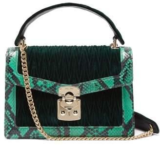 Miu Miu Confidential Matelasse Quilted Velvet Shoulder Bag - Womens - Dark Green