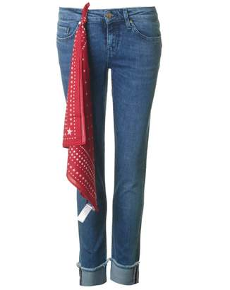 Tommy Hilfiger Rome Rolled Up Boyfriend Jeans Colour: BLUE, Size: 30