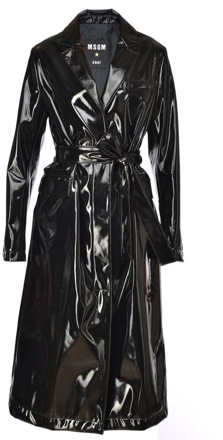 MSGM Tech Fabric Trench Coat