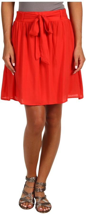Brigitte Bailey Briane Skirt (Red) - Apparel