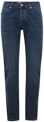 Topman Mid Blue Wash Stretch Slim Jeans