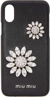 Miu Miu Black Madras Flower iPhone X Case