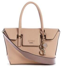 f5251e1ceb44 at The Bay · GUESS Small West Side Flap Satchel