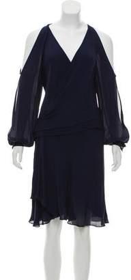 Haute Hippie Silk Cold Shoulder Dress