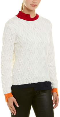 Armani Exchange Colorblocked Wool-Blend Sweater